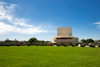 side view picture of william danforth chapel at florida southern college